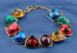 Multi-color Paste Cabochon Necklace, Yves Saint Laurent